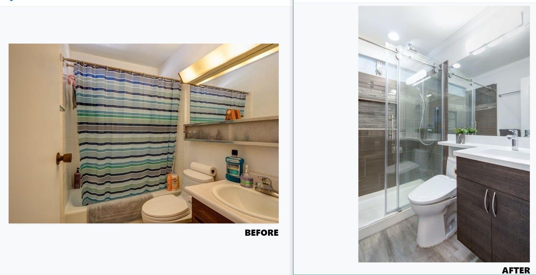 Mililani Makeover - Before & After Bathroom