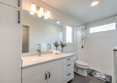 The bathroom was designed for accessibility.