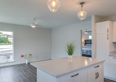 After years of cooking in a compact kitchen, the homeowner is thrilled to have a full-sized kitchen in her ADU.
