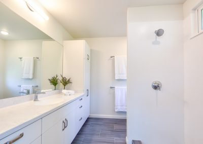 Multigenerational addition has two bathrooms upstairs.